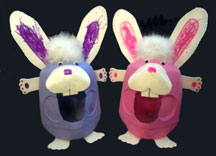 Easter crafts for kids easter bunny milk jug baskets craft from daniellesplace negle Choice Image
