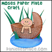 Baby Moses in Basket Bible Craft for Children's Sunday from www.daniellesplace.com
