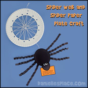 Paper Plate Craft - Spider Web and spider Craft from www.daniellesplace.com