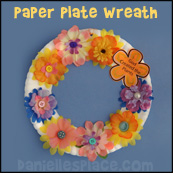 God Made the Plants Paper Plate Craft from www.daniellesplace.com