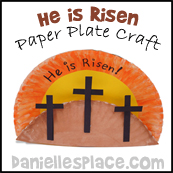 His is Risen - Easter Paper Plate Bible Craft from www.daniellesplace.com