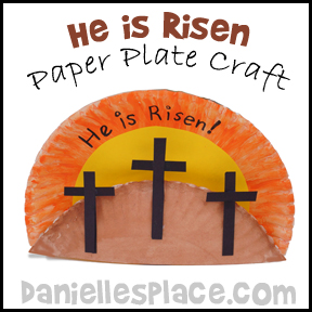 Easter Craft - He is Risen Paper Plate Craft for Bible School from www.daniellesplace.com