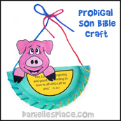 Pig in a Basket Paper Plate Craft from www.daniellesplace.com