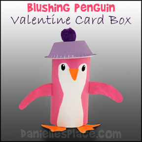 Blushing Penguin Valentine's Day Card Holder from www.daniellesplace.com
