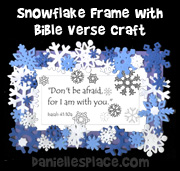 snowflake frame craft from www.daniellesplace.com