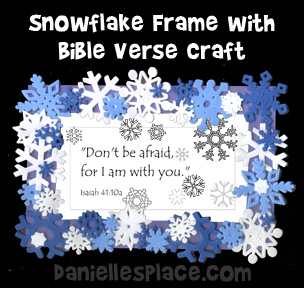 Snowflake Frame Bible Verse Craft