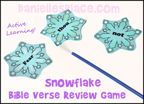 Snowflake Drinking Straw Bible Verse Review Game from www.daniellesplace.com