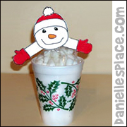 Hot Chocolate Mix with Marshmallow Snowman Craft from www.daniellesplace.com
