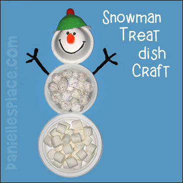Snowman Treat Dish Craft from www.daniellesplace.com