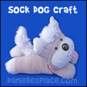 Dog Sock Craft from www.daniellesplace.com