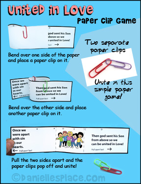 United in Love Paper Clip Game from www.daniellesplace.com