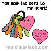 You Hold the keys to my Heart Mother's Day Craft for Kids