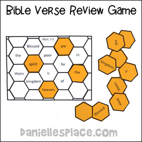 Beehive Bible verse review game from www.daniellesplace.com