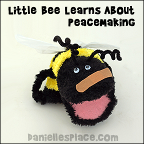 Little Bee Learns About Peacemaking - Beatitudes Sunday School Lessons for Children from www.daniellesplace.com
