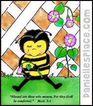 Bee Crying Activity Sheet for Sunday School
