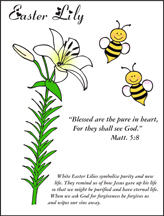 Easter Lily Coloring Sheet For Beatitude Lesson From Daniellesplace