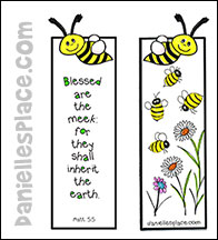 Bee Bible Verse bookmark Craft from www.daniellesplace.com