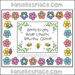 Beatitudes Bible Lesson Review Game from www.daniellesplace.com