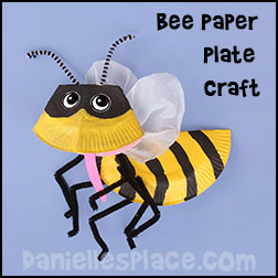 Bee Paper Plate Craft for Kids from www.daniellesplace.com