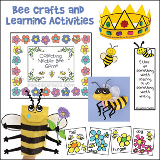 Bee Crafts and Learning Activities from www.daniellesplace.com