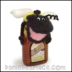 Bee Puppet Made from two socks used in the Beatitude Bible Lessons from www.daniellesplace.com