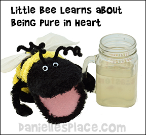 Little Bee Learns about being Pure in Heart Beatitudes Sunday School Lesson for Children from www.daniellesplace.com