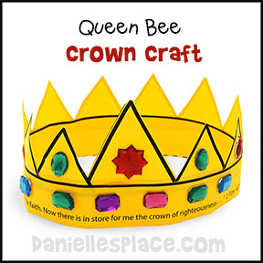 Queen Bee Crown Craft from www.daniellesplace.com