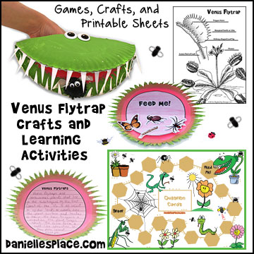 venus fly trap crafts and learning activities for children rh daniellesplace com venus fly trap cell diagram venus fly trap diagram printable