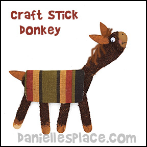 Horse or Donkey craft stick Craft for Children from www.daniellesplace.com