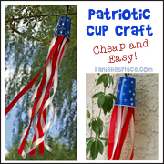 Patriotic Cup Windsock Craft from www.daniellesplace.com