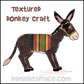 Palm Sunday Donkey Craft using tea leaves to make it textured from www.daniellesplace.com