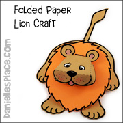 Folded Paper Lion Craft