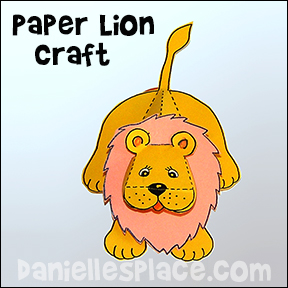 Paper Lion Craft from www.daniellesplace.com