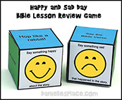Sad and Happy Die Bible Lesson Review Game