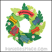palm sunday hosanna wreath easter craft for kids www.daniellesplace.com