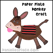 Paper Plate Donkey Craft  from www.daniellesplace.com