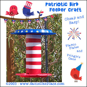 patriotic bird feeder craft