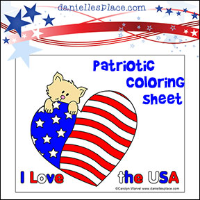 Free Patriotic Coloring Sheet Craft from www.daniellesplace.com