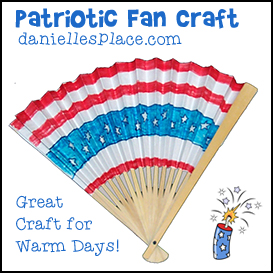 Patriotic Fan Craft from www.daniellesplace.com