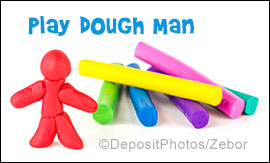 Make a Play Dough Man from Play Dough from www.daniellesplace.com