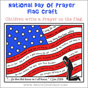 National Day of Prayer Craft for Children from www.daniellesplace.com