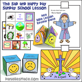 "Easter Sunday School Lesson - ""The Sad and Happy Day"" from www.daniellesplace.com"