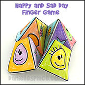 Sad and Happy Game Paper Craft