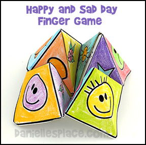 Sad and Happy Day Finger Game for Sunday School - Easter Craft and Bible Lesson Review Game from www.daniellesplace.com