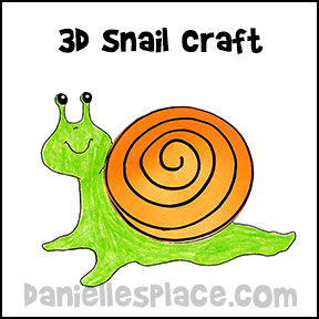 printable 3D snail craft from www.daniellesplace.com