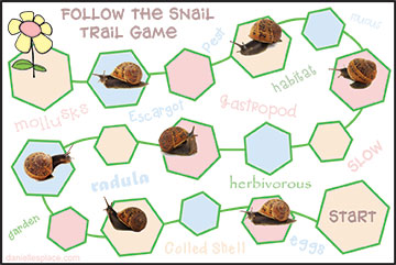 Snail Board Game Printable from www.daniellesplace.com