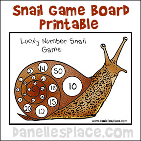 Lucky Number Snail Printable Board Game from www.daniellesplace.com