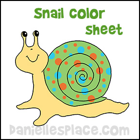 printable snail color sheet from www.daniellesplace.com