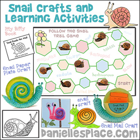 Snail Crafts and Learning Games for Children from www.daniellesplace.com