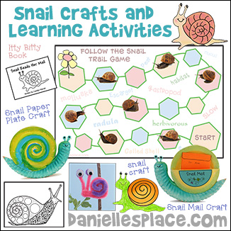 Snail Crafts and Learning Activities from www.daniellesplace.com